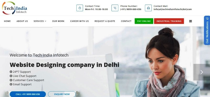 Tech-India-Infotech-Home-Screen